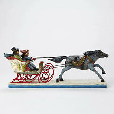Jim Shore Victorian Couple in Sleigh Figurine ~ The Horse Knows The Way 4047674