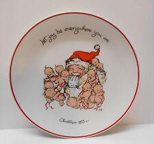 Kewpie Christmas Plate Santa Claus Babies Let Joy Be Everywhere You Are 1973
