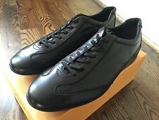 550$ Tod's Black Leather Sneakers size US 12.5 Made in Italy