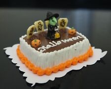 1:12 Dollhouse Miniatures Halloween Sheet Cake Night Festival Fancy Bakery Clay