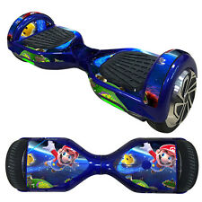 "6.5"" Balancing Hoverboard Electric Scooter Mario Skin Protective Sticker Decal"