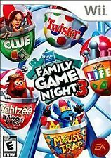 Hasbro Family Game Night 3 Nintendo Wii COMPLETE Game+Case+Manual