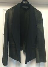 NWOT ALEXANDER WANG Black Distressed Leather Tuxedo Moto Jacket Sz S