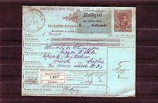 Interessante Paketkarte Italien aus dem Jahr 1889 - b0207