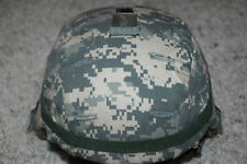 NEW ORIGINAL US ARMY MSA ACH MICH COMBAT HELMET WITH ACU COVER - LARGE