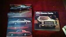 1976 Chevrolet Monte Carlo Booklet Pamphlet Ad
