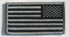 US AMERICAN FLAG MILITARY UNIFORM BLACK VELCRO PATCH-32624