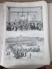 Vintage Print,FRENCH TRACTION ENGINE,Feb10,1876,Centennial Daily Graphic