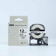 Compatible EPSON 12mm LC-4WBN Label Tape Black on white 12mm 8m LW400 LW500 600