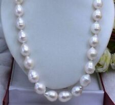 HUGE SEA AAA+ 12-15 MM WHITE AKOYA BAROQUE PEARL NECKLACE 22 INCH 14K