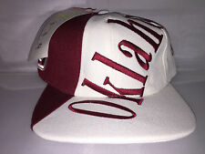 Vtg Oklahoma Sooners Snapback hat cap rare 90s NCAA College Big Logo football