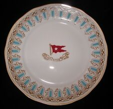 TITANIC- J. PETERMAN DESSERT PLATE WHITE STAR LINE - BLUE and GOLD