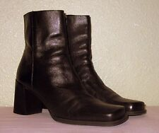 WOMENS BROWN LEATHER NINE WEST BRAZIL ANKLE BOOTS BOOTIES US 9.5 EU 39.5 40 40.5