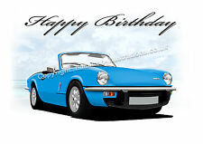 Triumph Spitfire 18th 21st 40th 50th 60th PERSONALISED Birthday Greetings Card