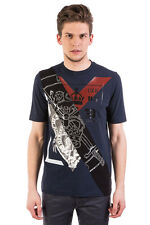 RRP €195 DIESEL BLACK GOLD Size S TEORIA-RECYCLE Glued Inscriptions T-Shirt Top