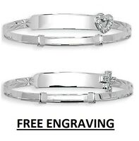 925 Sterling Silver Childrens Baby Christening Expanding Bangle *FREE ENGRAVING*