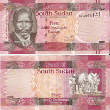 South Sudan 5 Pounds 2011, Pick 6 Mint Unc
