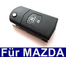 2Tasten Klappschlüssel Gehäuse für MAZDA 2 3 5 6 BT50 CX-5 CX-7 CX-9 RX8