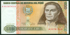 PERU'  -  500 INTIS 1987 Uncirculated  -  P 134  LOT 2  PCS