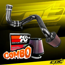 02-05 Mitsubishi Lancer 2.0L MT Black Cold Air Intake + K&N Air Filter