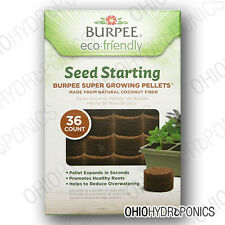 Burpee Seed Starting Super Growing Round Pellets 36 Each Coconut Fiber COCO COIR