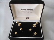 Pierre Cardin Gold-Tone Cufflinks & Studs, Dumb-Bell Style, NOS