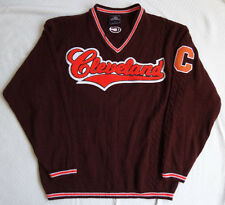 Vintage 80's Cleveland Browns Retro Varsity Style Sweater NFL Football V-Neck LG