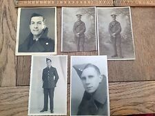 Small Lot Of Vintage / Antique Military Postcards / Photos