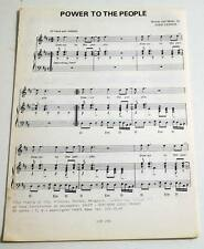 Partition vintage sheet music JOHN LENNON : Power to the People +1 *60's BEATLES