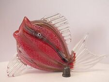 Rare Very Nicely Worked Mid-Late 20th Century Murano/ Venetian Glass Fish Figure