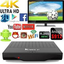 KM8P Android 6.0 Smart TV BOX Amlogic S912 Octa Core 64bits WiFi VP9 4K 3D Movie