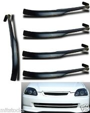 5 X 96 97 98 CIVIC 2 3 4 DOOR TYPE-R PU BLACK ADD-ON FRONT BUMPER LIP SPOILER
