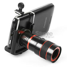8x Zoom Optical Lens Telescope + universal holder For Camera Mobile Cell Phone
