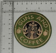 Guns and Coffee Iron-on EMBROIDERED PATCH / BADGE / LOGO