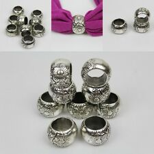 10 PCS Antique silver flower Acrylic slide Scarf beads Accessory