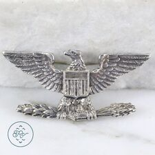 Vintage Sterling Silver - WWII US Military Eagle 5.7g - Brooch JQ7003