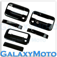 04-14 Ford F150 Gloss Black 2 Door Handle+no keypad+PSG KH+Tailgate Cover Kit