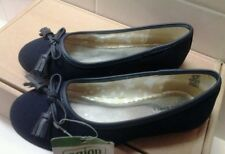 New Kid Girl Lands End Classic Navy Ballet Flat Shoe Size 11 M