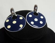 Large Blue Disk Earrings