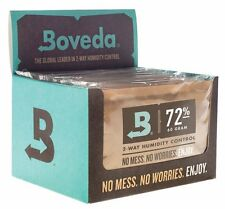 Boveda 72% rh 2-way humidité contrôle, large 60 gram taille, 12-pack
