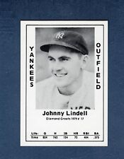 #17 JOHNNY LINDELL, Yankees commemorative card (1979 Diamond Greats/Jack Wallin)