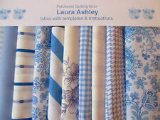 ❤ LAURA ASHLEY FABRIC ❤ 80 piece. PAISLEY PATCHWORK QUILTING KIT+ INSTRUCTIONS