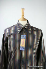 VERSACE MENS SHIRT 16 COLLAR 46 CHEST CLASSIC FIT STRIPED STYLED OUT OF ITALY