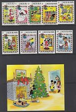 CAICOS ISLANDS :1983 Christmas (Disney) set + M/Sheet SG 30-8 +MS 39 MNH