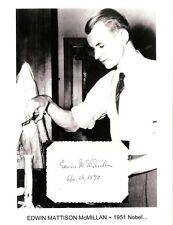 Edwin McMillan Autograph Nobel Prize Chemistry transuranium Element Neptunium #2