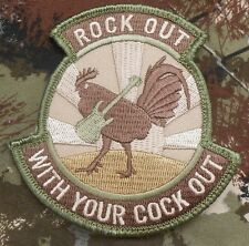 ROCK OUT WITH YOUR COCK OUT ARMY MORALE MILITARY TACTICAL MULTICAM VELCRO PATCH