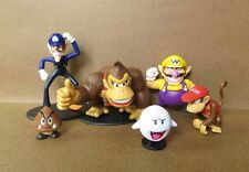 Lot 6 Super Mario Bros Mini Figures Game Figurine Toy Doll Set