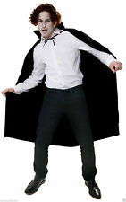Adult Black Cape long Halloween Fancy Dress Costume