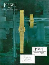 ▬► PUBLICITE ADVERTISING AD MONTRE WATCH PIAGET depuis 1874