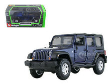 JEEP WRANGLER UNLIMITED RUBICON 4 DOORS BLUE 1/32 DIECAST MODEL BY BBURAGO 43012